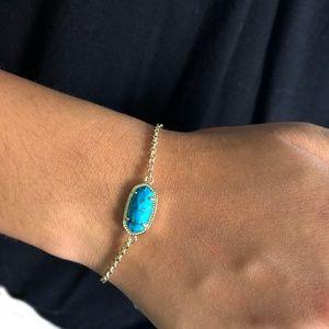 NEW Kendra Scott Elaina Veined Turquoise Bracelet